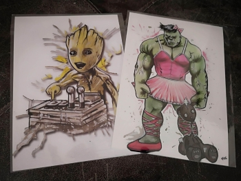 Groot and Hulk Prints